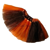 Girls to Plus Size Team Spirit Tutu BROWN ORANGE